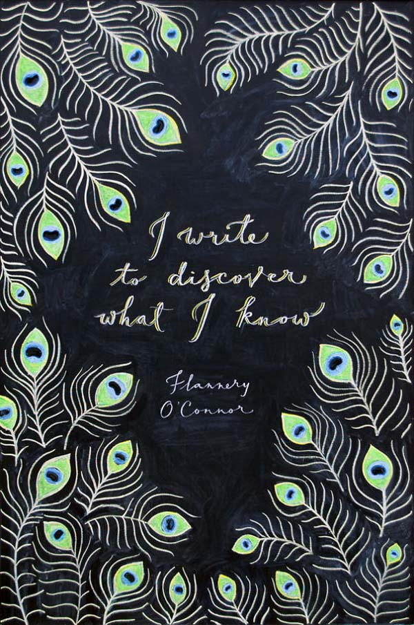 Flannery O' Connor Quote Illustration