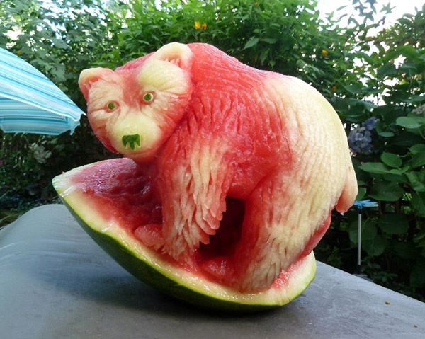 Edible art most astonishing fruit carvings
