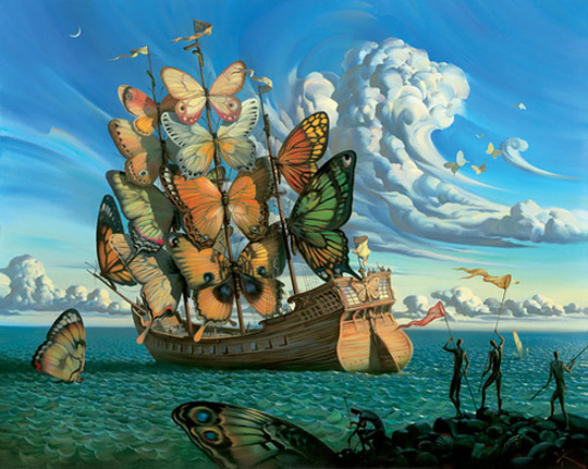 Departure of Winged Ship