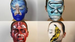 Using Face as a Canvas by Natalie Sharp