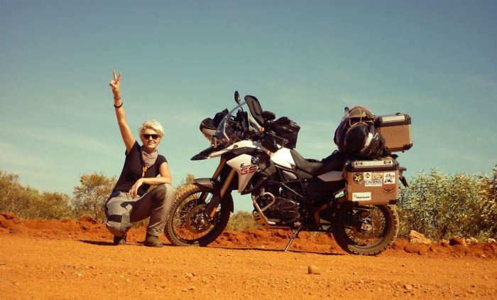 The Girl on a Motorcycle King of Australia.