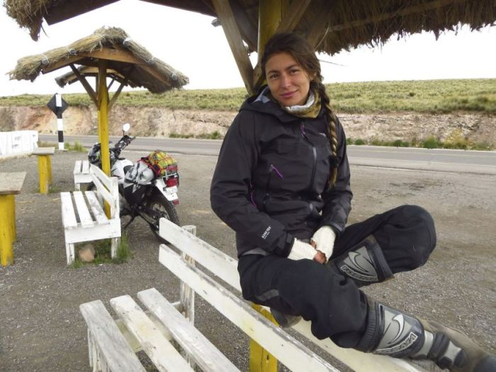 Paulina from Chile to fulfill his dream thanks to the bike.