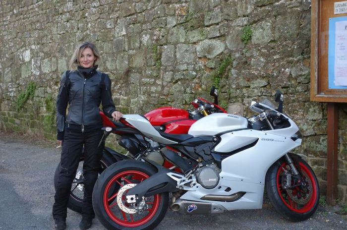 True happiness for the Englishwoman Mary - it's her bike.