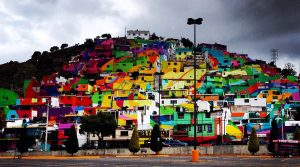 Germen Crew transforms Palmitas into a Rainbow Mural