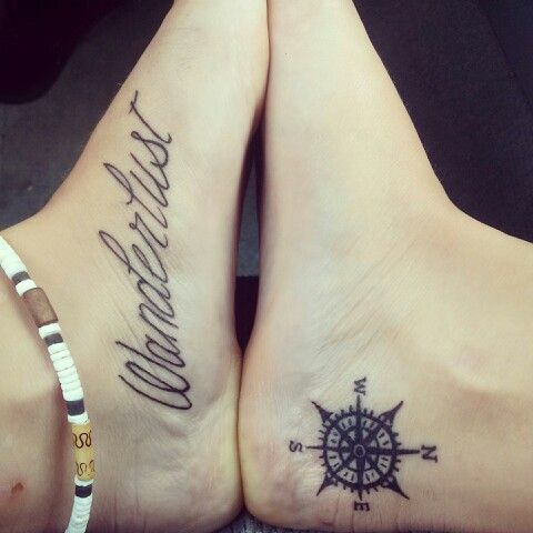 Compass-Tattoo-on-Ankle 12