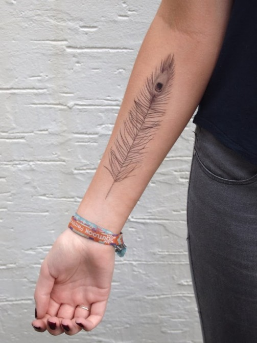 Feather tattoos 25
