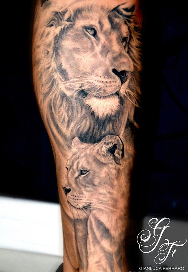 Lion tattoo shoulder girl - photo#10