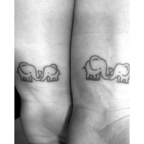 Mother daughter tattoo1