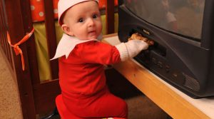 The cutest elf is a 4-month-old baby boy Rockwell (10 Photos)
