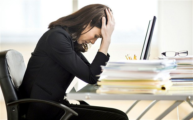 Work is miserable. Fact.  Image Source: telegraph