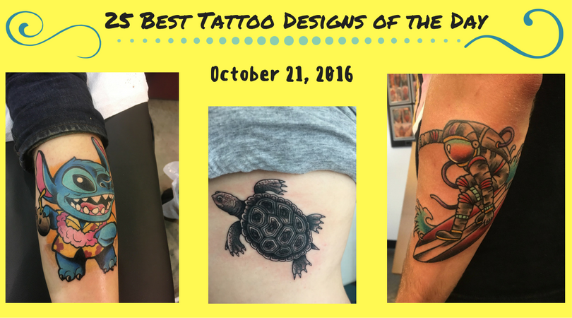 25 best tattoo designs of the day october 21 2016 for Popular tattoos 2016