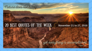 20 Best Quotes of the Week - November 21 to 27, 2016