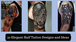 50 Elegant Half Tattoo Designs and Ideas