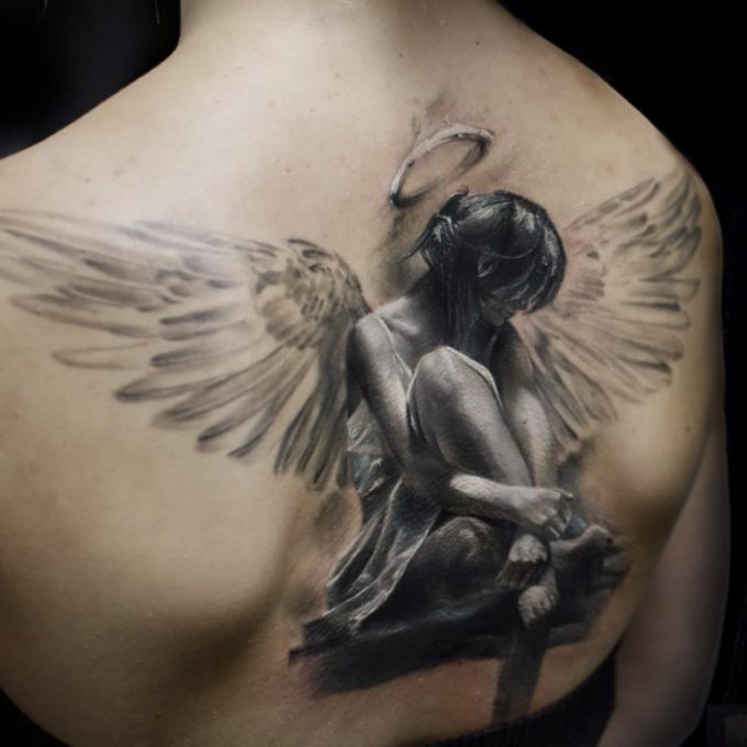 50 best angel tattoo designs and ideas. Black Bedroom Furniture Sets. Home Design Ideas