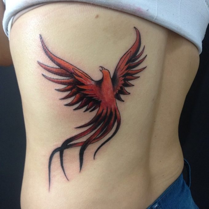 50 best phoenix tattoo design and ideas. Black Bedroom Furniture Sets. Home Design Ideas